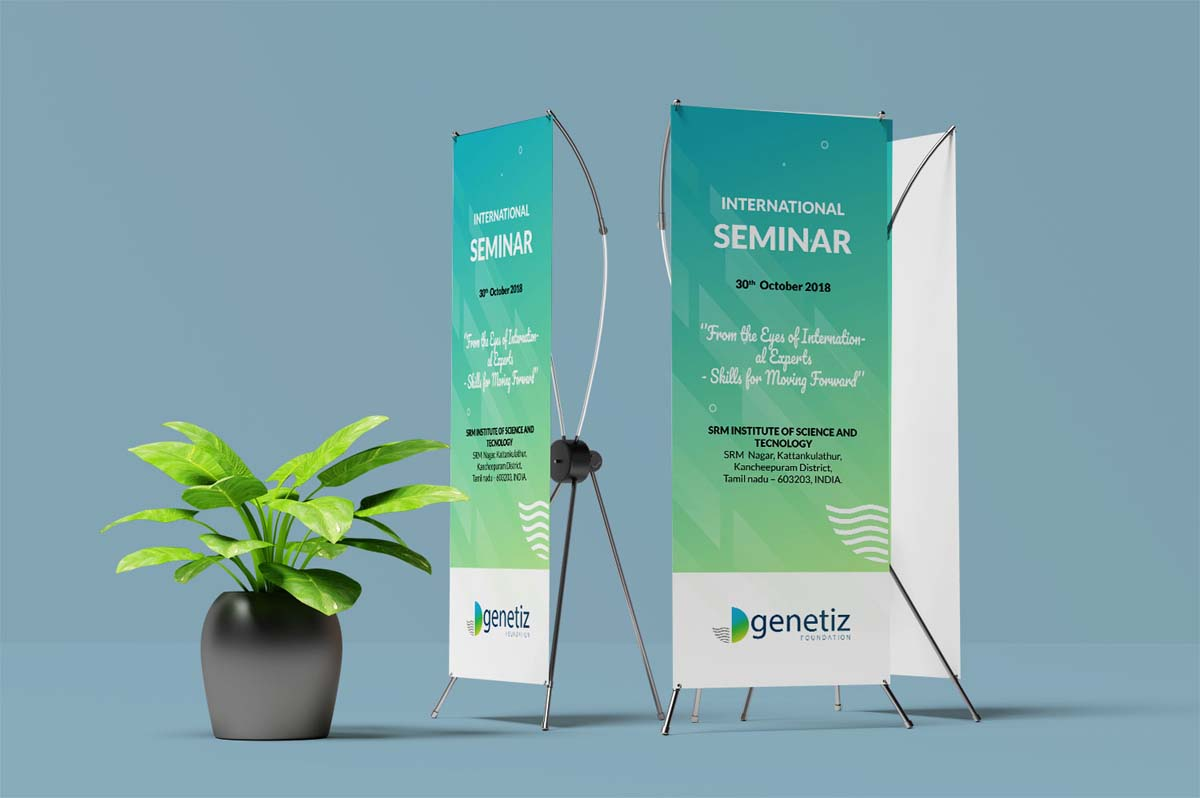 Genetiz Foundation standee design