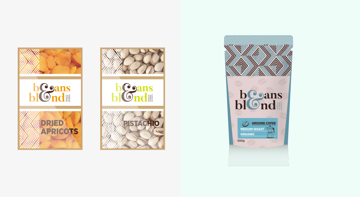 Beans & Blend Dry Fruit and Coffee package
